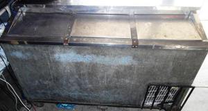 Nevera enfriador de 3 tapas usada con motor dañado