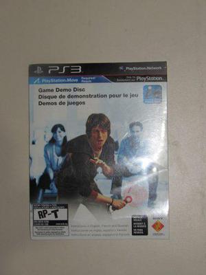 Playstation move demo disc nuevo/sellado