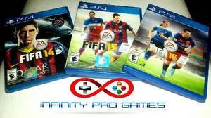 Combo 3 juegos fifa 14 fifa 15 fifa 16 para ps4 garantia