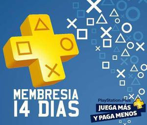 Membresia playstation plus 14 dias juegos online
