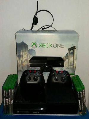 Xbox one 500 gb + 2 controles + 7 juegos originales