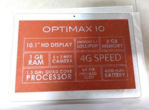Tablet teléfono plum optimax 10.1 pulgadas nueva, dual sim.