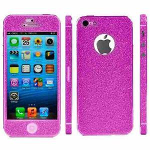 Skin vinilo escarchado iphone 4 4s 5 5s doble cara y lateral