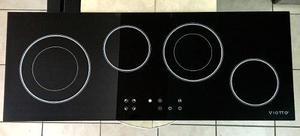 Tope de cocina eléctrico 90 cm vitroceramica 4h viotto