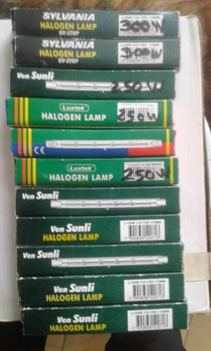 Bombillos faro halogenos 110v,solo de 250w largos