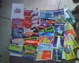 Lote de tarjetas telefonicas telcel y movilnet usadas