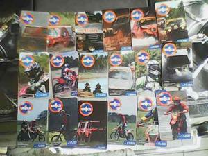 Lote tarjetas telefonicas unicas fun race de venezuela