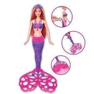 Muñeca sirena burbujas magicas kaibibi juguete niña barbie