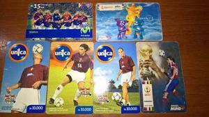 Tarjetas telefonicas futbol coleccion