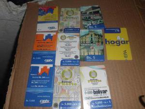 Tarjetas telefonicas magneticas de cantv de coleccion usadas
