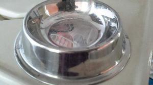 Tazon Alimento O Agua Perros Acero Inoxidable Pequeño