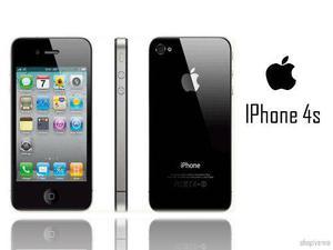 Teléfono iphone 4s 16g negro usado no android barato
