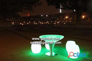 mobiliario iluminado led del partido