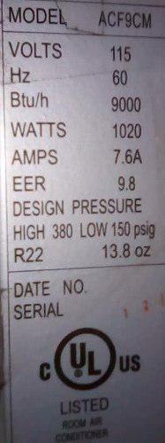 Aire acondicionado 9 mil btu frigilux remate por hoy