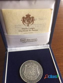 Moneda. 5 lire d'argento, maria luigia duchessa di parma 1815