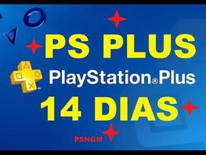 Psn plus 14 dias ps3 ps4 vita