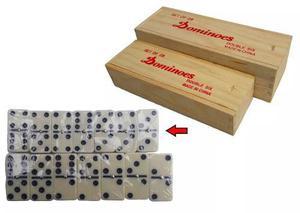 Juego mesa domino caja 28 piezas grandes profesional nuevo