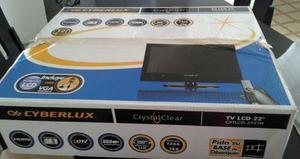 Televisor lcd cyberlux 22 como nuevo
