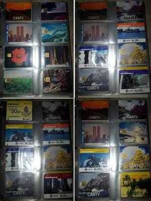 Colección de tarjetas telefónicas cantv (100 trum.ps)