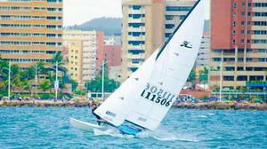 Hobie cat 16 catamaran sailing barco regatas sunfish