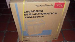 Lavadora semiautomática doble tina 6 kg. marca tcl