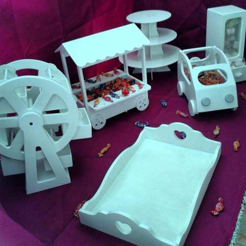 Candy bar piezas decorativas y funcionales para mesas ref.35
