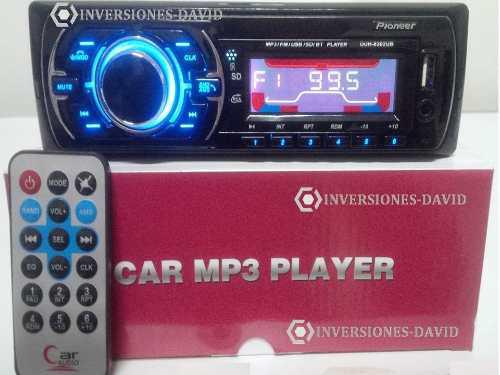 Reproductor pioneer bluetooth carro mp3 usb sd aux + control