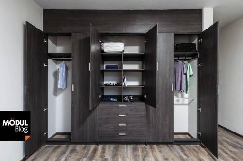 Closet vestier modulares modernos lujosos