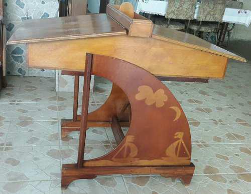 Escritorio pupitre mesa escolar madera doble