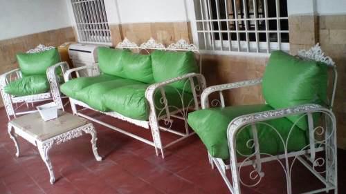 Juego de muebles de jardin hierro forjado,$ como nuevos