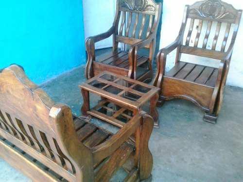 Juego de muebles de madera magdaleno en oferta