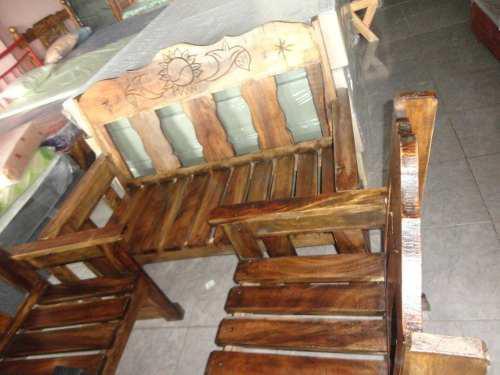 Juego muebles madera