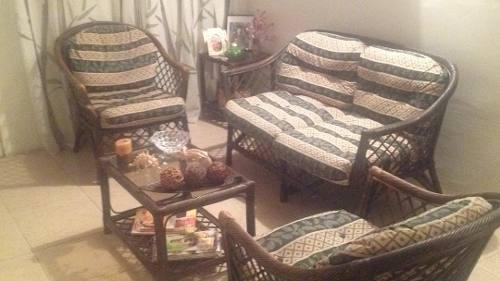 Juego sofà ratan