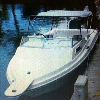 Lancha 21 pies con camarote, casco tracto marine import 1998