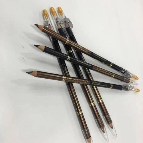 Lápiz de ojos tipo crayón doble marron y negro x 6
