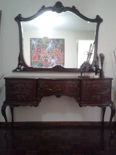 Mueble tocador peinadora recibidor de caoba estilo luis xv