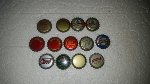 Coleccion de chapas de la cerveceria regional son 13