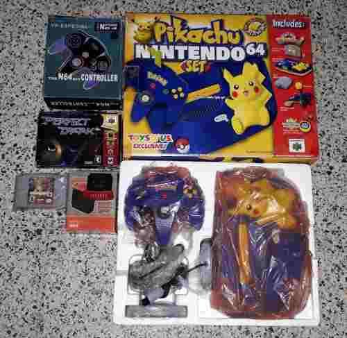 Nintendo 64 pikachu + 2 juegos + 1 control + expansion pak
