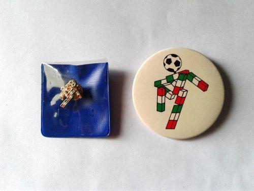 Pin oficial bertoni mundial futbol italia 90 + chapa regalo