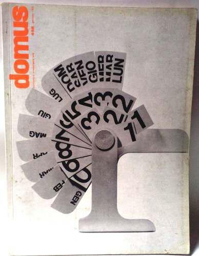Revista vintage arquitectura y diseño domus enero 1968