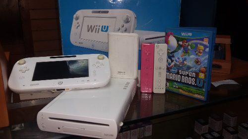 Consola nintendo wiiu chipeada + juego original + disco duro
