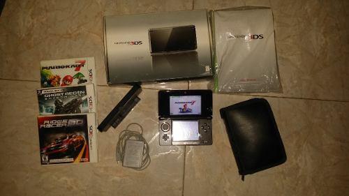 Nintendo ds 3d doble cámara con wifi + r4 + juegos original