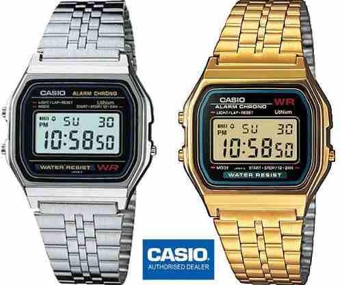7a7949880cd6 Reloj casio clasico retro vintage unisex dorado plateado new en ...