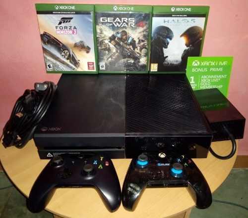 Xbox one 500gb + 2 controles + 3 juegazos + gold + hdmi