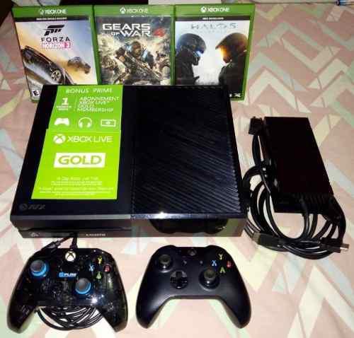 Xbox one 500gb, 2 controles, 3 juegos fisicos, gold, hdmi