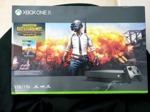Xbox one x 1tb pubg battlegrounds, 4k hdr sellado oferta!!!!