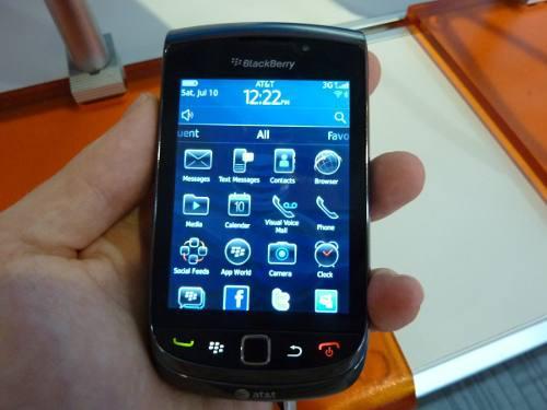 Blackberry torch 9800 liberado (usado) con detalle