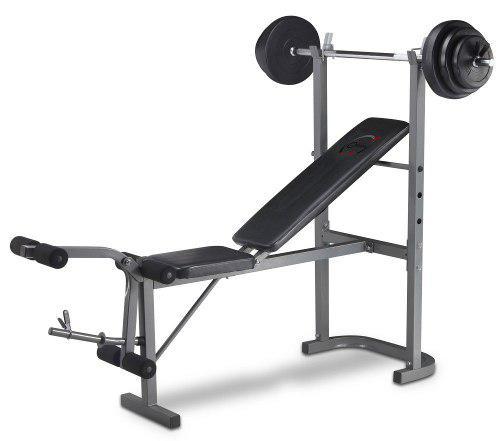 Banco de pesas con todo + juego de pesas y discos varios