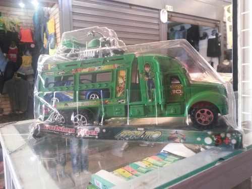 Camion plastico juguete ben10 gandola moto y carro nuevo