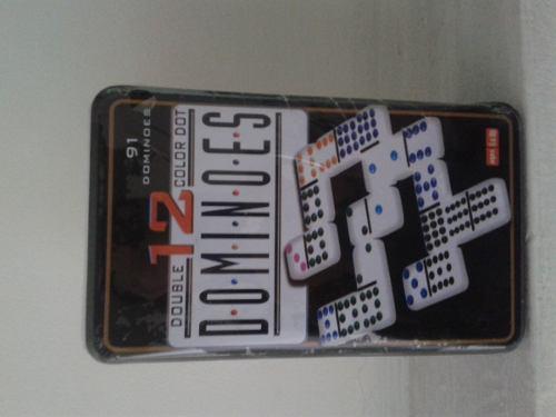 Domino profesional. doble 12. 91 piezas. puntos de colores